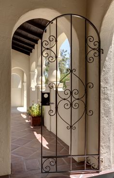 Arresting Iron Gate house designs Mediterranean Exterior Los ...