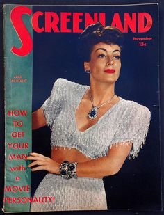 Joan Crawford 1940s Vintage Screenland Magazine Frank
