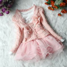 1,2,3,4t skirt baby clothes 2pcs baby girl's summer fall spring dress girl toddler clothes pink white. $27.99, via Etsy.