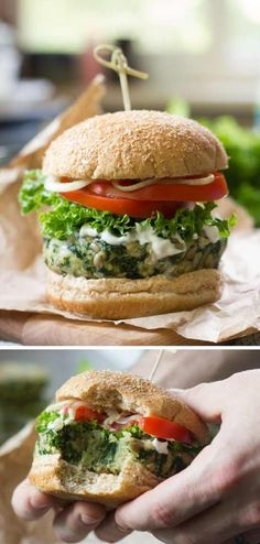 These satisfying vegan kale burgers are made with a flavorful mixture of white beans, crunchy sunflower seeds and lots of …
