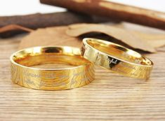 Handmade Your Marriage Vow & Signature Rings Wedding Rings, Gold Matching Wedding Bands, Titanium Couple Rings Set Handmade Your Marriage Vow & Signature Rings Trauringe Matching Wedding Bands, Custom Wedding Rings, Wedding Matches, Gold Wedding Rings, Wedding Rings For Women, Rings For Men, Marriage Matching, Wedding Hands, Matching Rings