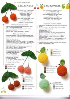Tuto Amigurumi Fruit : cerises & abricots #howto #tuto Amigurumi Pinterest ...