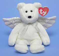 Herald, Ty Beanie Baby bear reference information and photograph. Rare Beanie Babies, Beanie Baby Bears, Original Beanie Babies, Ty Beanie Boos, Ty Bears, Ty Babies, White Teddy Bear, Pokemon Plush, Cuddle Buddy