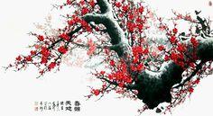 梅花主题中国绘画艺术作品