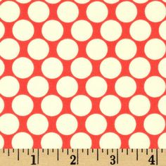 Amy Butler Lotus Full Moon Polka Dot Cherry from @fabricdotcom  Designed by Amy Butler for Westminster Rowan, this cotton print is perfect for quilting, apparel and home decor accents. Colors include cherry and ivory.