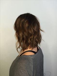 Short hair chestnut balayage @lovebeautifulhair