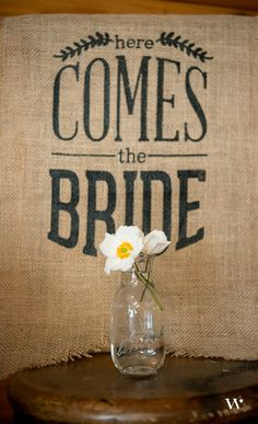 Create a Rustic Country wedding theme with burlap and milk bottles!