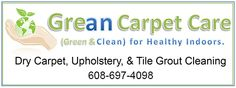 Grean Carpet Care is a carpet and upholstery cleaning business that offers commercial and residential services in the Sauk, Columbia, Marquette, Dodge, and Dane county region in Wisconsin.  Grean Carpet Care 101 Hiawatha St Portage, WI 53901 Phone:(608) 697-4098 Website: http://www.greancarpetcare.com/  Keywords:  Carpet Cleaner