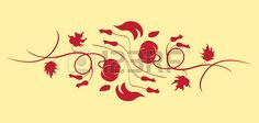 antiek behang: Vector illustraition van retro abstract floral swirl achtergrond Stock Illustratie