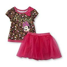 Disney Baby Minnie Mouse Toddler Girl's Graphic Top & Tutu Skirt