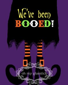 you've been Booed signs | Oh My Gluestick: We've Been Booed! Free Printable