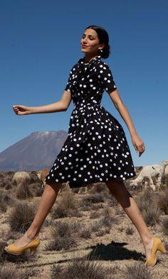 Peru vintage-inspired dress by shabby apple.