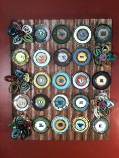 All You Need Is Love (and some metal) like old paint can lids -