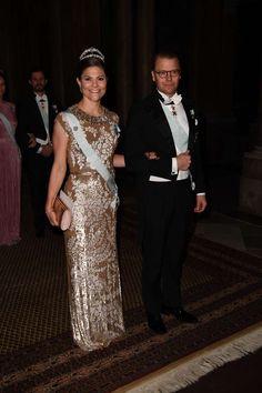 Gert's Royals (@Gertsroyals) on Twitter:  King's Banquet for the Nobel Prize Winners, Stockholm Sweden, December 10, 2016-Crown Princess Victoria and Prince Daniel