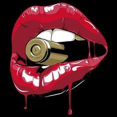 Bad girl bad girlz, 2019 art, pop art ve art drawings. Arte Pop, Dope Kunst, Deco Gamer, Diy Wanddekorationen, Diy Crafts, Pop Art Decor, Kiss Of Death, Death Art, Ouvrages D'art
