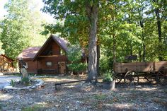 I'd Love To Stay Here Would You? Trapper's Den Cabin Two master suites, perfect for two couples or a family enjoying the Ozarks together!  BransonVacationRentalCabins.com  #bransonmissouri  #ozarks  #cabinrentalsinmissouri