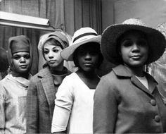 Women modeling bonnets at the legendary Harlem Easter parade, 1965. (Black Studies Center Database) Another find that deserves a repin while I take a break from using http://www.PlusGigs.com to boost my presence on Google+
