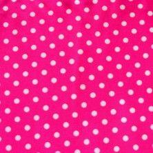 White Aspirin Polka Dots on Bright Pink Nylon Lycra Swimsuit Fabric $11.49