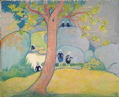 Bretonnes à la mare, Peinture de Maurice Denis