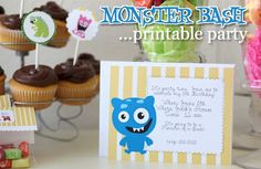 monster bash printable party