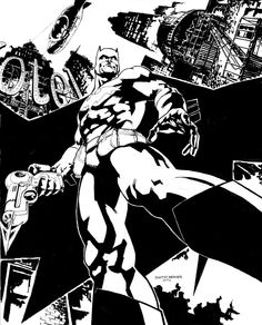 Batman Drawn in 2002 by Dustin Weaver