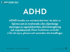Fakta om ADHD Adhd And Autism, Add Adhd, Language Study, Bpd, Aspergers, How To Know, Depression, Stress, Mindfulness