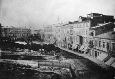 Carol Popp de Szathmary - Podul Mogosoaiei (Victoria Avenue nowadays) seen from National Theatre square (left) in 1875 Old Pictures, Old Photos, Bucharest Romania, National Theatre, Time Travel, Paris Skyline, Bulgaria, Tourism, Places To Visit