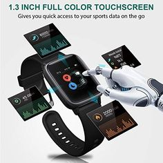 Letsfit Smart Watch, Fitness Tracker with Heart Rate Monitor, Activity Tracker with Touch Screen, Waterproof Pedometer Smartwatch with Sleep Monitor, Step Counter for Women and Men – Abro Fitness Tracker, Smartwatch, Fitness Watches For Men, Life Hackers, Ios, Thing 1, Android, App Control, Heart Rate Monitor