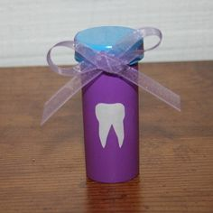 """30 Genius ways to reuse and repurpose empty pill bottles"" - Tooth Fairy Canister - LOVE IT!! I'm going to make one for all the little ones in my family."