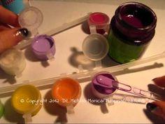 Tutorial Glassa - Glaze (colla vinilica + colori acrilici)