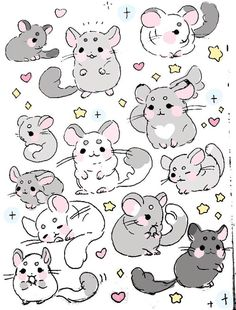 Anime Drawing Tutorial cosette ♡ 16 ♡ she/her - Cute Animal Drawings, Animal Sketches, Kawaii Drawings, Cute Drawings, Art Sketches, Pretty Art, Cute Art, Animal Doodles, Creature Drawings