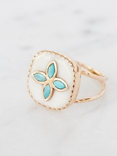 Bowie Turquoise Ring | Free People