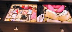 Dresser Drawer Organization - Keep your dresser drawers organized, find your clothes easily
