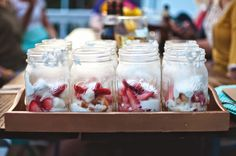 Strawberry Short Cake in a jar--Celebrate Friends {dinner party} | HELLO my name is Sara.