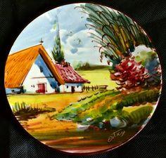 platos pintados a mano antiguos - Buscar con Google