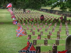 Confederate cemetery at Carnton Plantation - soldiers were buried and reburied there by the McGavock family after the Battle of Franklin.