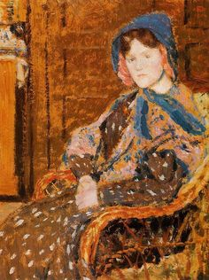 The Athenaeum - Seated Young Woman in a Blue Hat (Georges Lemmen - )