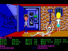Maniac Mansion (Commodore Amiga) State of the art graphics just like real life ,,,,  brought to you by the Commodore 64!