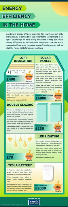 Energy Efficiency in the Home #infographic #HomeImprovement #Energy