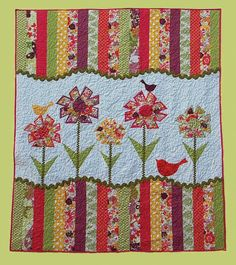 Primitive Folk Art Quilt Pattern  Dizzy Lizzy by FiddlestixDesign