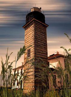 Beavertail Lighthouse, Rhode Island, USA,