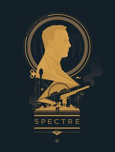 Client: Poster Posse Date: October 2015 My illustrated print for the release of Spectre, the latest James Bond film. Minimal Movie Posters, Cool Posters, Film Posters, Cinema Posters, James Bond Party, James Bond Movies, Fan Poster, Movie Poster Art, Daniel Craig James Bond