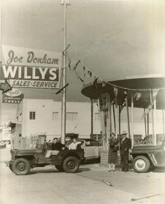 Jeeps at Joe Donham Willys dealership