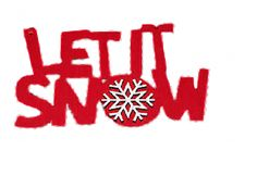 Let It Snow Frozen Snow Flake embelishment Red Christmas Sign Plaque  Decoration