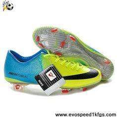 pretty nice ae7da 51a92 Sale Nike Mercurial Vapor IX Firm Ground Blue Green Black Boots Soccer Shoes  Shop Black Football