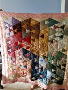 Alyssa Shesney's baby quilt made by Aunt Barbara  E Dube Brennan.  Machikne pieced and quilted.by