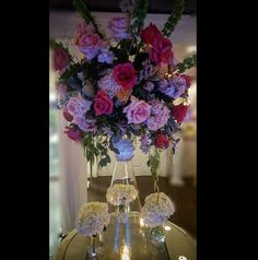 www.flowersbybrian.com Pink Centerpieces, Glass Vase, Home Decor, Decoration Home, Room Decor, Home Interior Design, Home Decoration, Interior Design