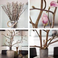 Bring våren inn i stuen med greiner. Her har vi tatt inn gåsunger og magnolia. http://www.mestergronn.no/blogg/