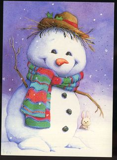 My favorite snowman! His smile is irresistible!