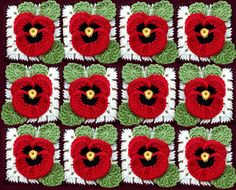 Ravelry: newform's Pansy Afghan